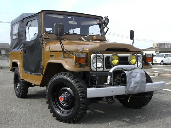 Vintage bj toyota land cruiser diesel lug top full front view
